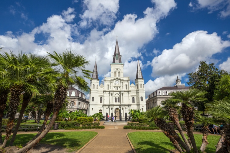 Saint Louis Cathedral in New Orleans, Louisiana.